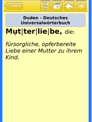 Mutterliebe - Duden
